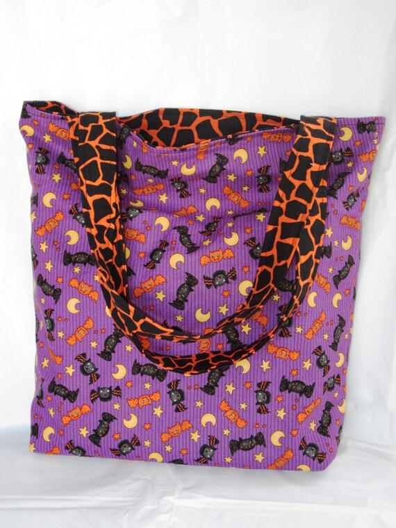 Halloween Bats Reversible Trick or Treat Bag