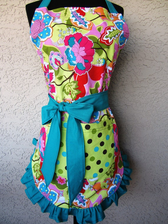 Women's Paradise and Polka Dots Reversible Apron