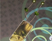 Reserved Listing Domino Necklace - Woodland Wonder