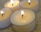 Warm Vanilla Sugar Scent Vegan Aromatherapy Pure Natural Soybean Tea Light Candle Premium Fragrance Eco Friendly