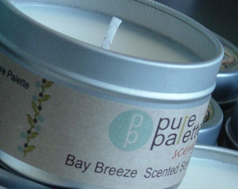 ON SALE Bay Breeze Scent Vegan Aromatherapy Pure Natural Soybean Candle Premium Fragrance Oil Eco Friendly