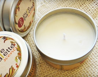 ON SALE Tuscan Herb Premium Fragrance Soy Candle -  in 4 Oz. Travel Tin Eco Friendly