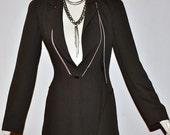 Vintage STATE Of CLAUDE MONTANA Brown Convertible Zipper Vest Jacket