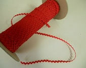 Red Ric Rac/ Rick Rack Ribbon 1/4 inch