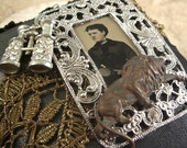 Ultra Special Lady Tintype Victorian Safari Jewelry Treasure Box- Altered Art One of a Kind