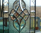 Beveled Stained Glass Victorian Panel