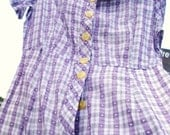 Plaid Pale Purple Day Dress