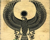 Egyptian Hawk Rubber Stamp