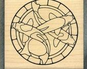 Koi Fish Rubber Stamp