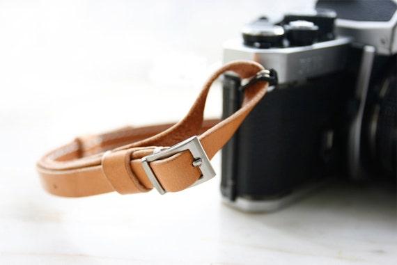Natural Tan Premium Camera Neck Strap - made to order