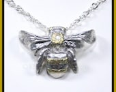 Bee Necklace Natural History Jewelry - Bird of the Muses