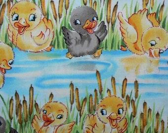 Michael Miller Happy Quack Cotton Fabric - 1 Yard