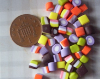 1 packet MINIATURE DOLLY MIXTURES dollhouse barbie sylvanian food sweets