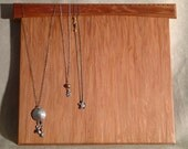 """Redwood Necklace Holder, Wall Hung, holds16 - 20 necklaces, 13"""" Coast Redwood"""