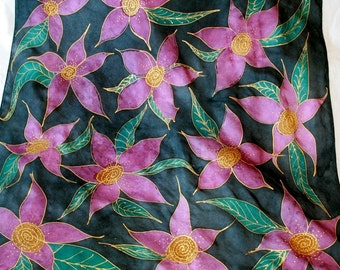 Purple Passion Silk Scarf