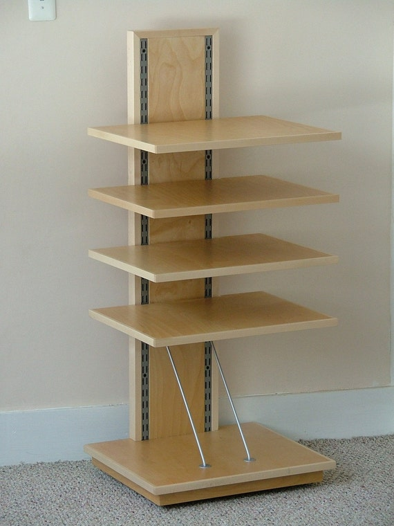 Stereo/Home Theater Rack with 4 Adjustable Shelves