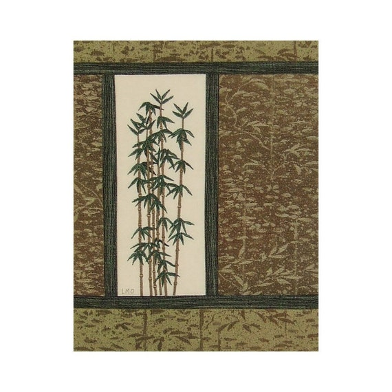 Embroidered Patchwork Collage Art Quilt Bamboo Vintage Silk Kimono