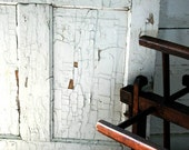 Farmhouse Door Photograph - white chipped aged antique amish country vintage
