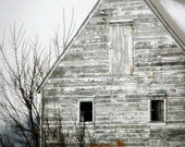 Rustic Barn Photo - white winter shabby run down heritage americana black