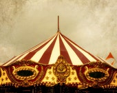 Carnival Circus Photograph - tent, big top, merry go round symmetry red gold