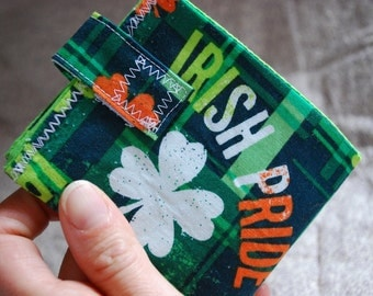 St Patricks Day - Fabric billfold wallet - Irish Pride FREE SHIPPING