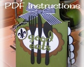 GOOD EATS Apron Shaped Mini Book PDF Instruction Sheet