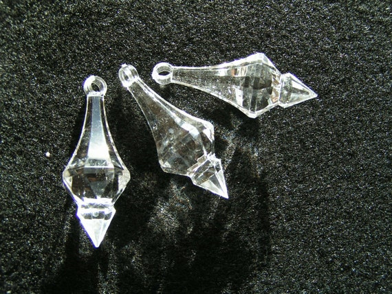 Chandelier Style Crystals - Set of 5 - Acrylic