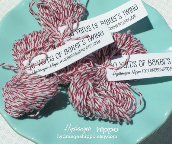 Baker's Twine - Red and White CANDY STRIPE -- 20 Yards