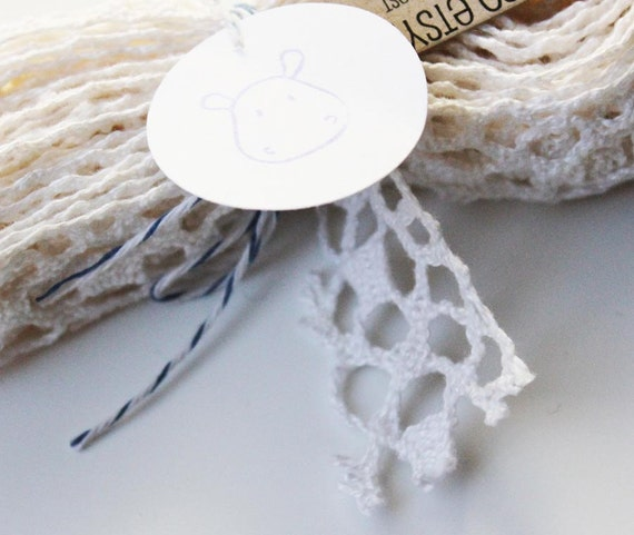 Wicked White - Spiderweb Style -  Lace Trim - 3 Yards