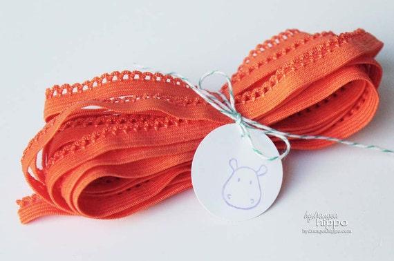 Tangerine Loop Elastic Trim- 3 Yards