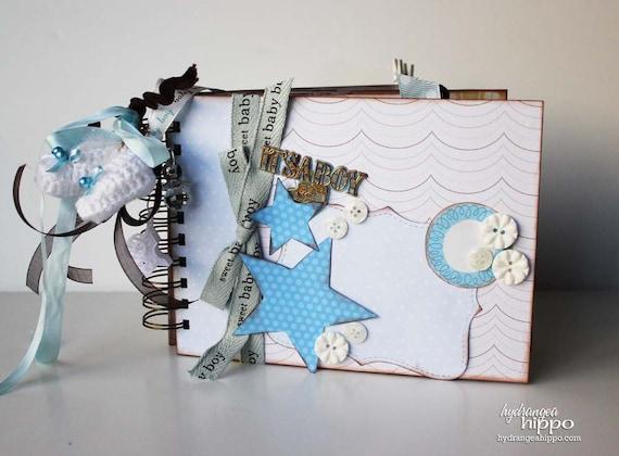 March 2012 Monthly Kit -- Sweet Baby Boy -- 6x8 Mini Album Kit