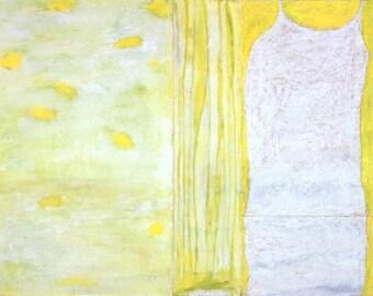 Paper Dress on Yellow