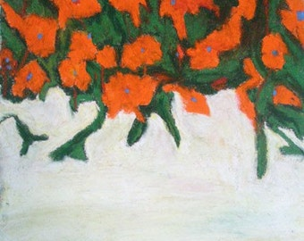 Orange Poppies with green
