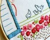 3 Little Birds Embroidery Pattern Iron-On Transfer by Sarah Jane