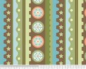 Mod Tod by Sheri Berry Designs for Riley Blake Gear Stripe Green C2744