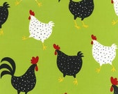 Metro Market by Ann Kelle for Robert Kaufman Chickens AAK-11219-50 Lime