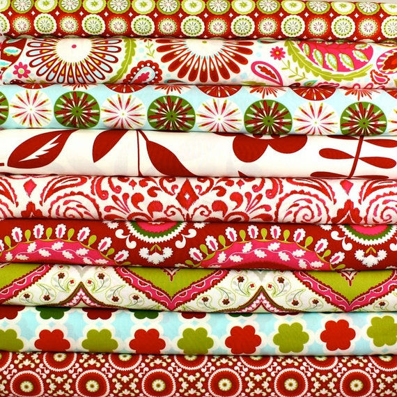 Dena designs kumari gardens holiday by cottonblossomfarm for Kumari garden fabric by dena designs