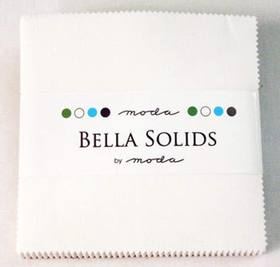 2 Moda Bella Solids Charm Packs White 9900 98