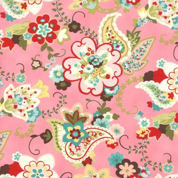 Sophie by Chez Moi Paisley Floral Sorbet 1/2 YARD