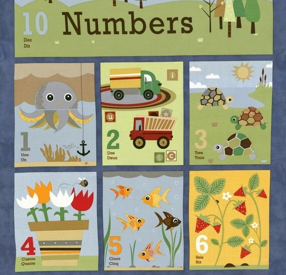Ten Little Things Quilt Story Book Fabric Panel by Moda 30500 12