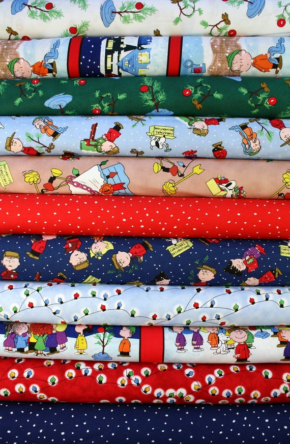 Christmas Time - Peanuts - Half Yard Bundle