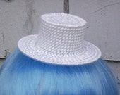 Plastic Canvas Mini Top Hat -white- CLEARENCE