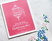 Save the Date Invitation Sample - Birdcage