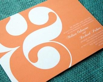 Wedding Invitation Sample - Ampersand