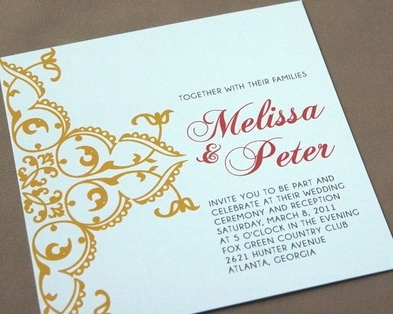 Wedding Invitation Sample - Ornate
