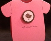 Welcome Little One - Onesie Baby Card (Girl)