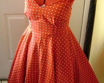 1950s Swing Dress Made to Fit You Any Size Any Color