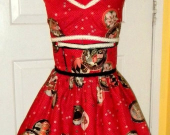 Pinup 1940s Bombshell Two Piece, Made For You, Any Size, Length, Fabric, Vintage Inspired Original Design