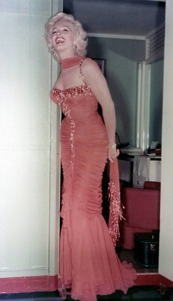 Marilyn Monroe's Amazing Orange Glittering Gown Custom Made to Fit You
