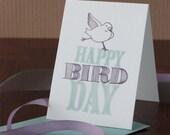 Happy BirdDay- Plum and Turquoise   ST0007